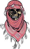 teschio arabo, magliette di design vintage grunge vettore