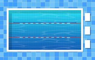 piscina con corsie e corde vettore