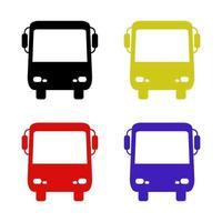 autobus su sfondo bianco vettore