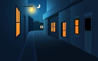 vettore strada di notte della città