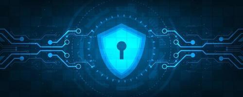 sfondo tecnologia vettoriale nel concetto di sistemi di sicurezza.