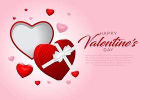 felice giorno di San Valentino sfondo vettore