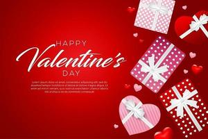 felice disegno di sfondo di san valentino vettore