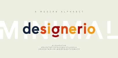 font alfabeto moderno minimale astratto. tipografia minimalista urbano digitale moda futuro logo creativo font. illustrazione vettoriale
