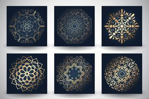 Sfondi decorativi stile mandala vettore