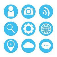 set di icone di social media vettore
