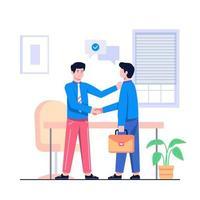 illustrazione piana del concetto di affare di affari vettore