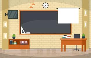 aula vuota nell'illustrazione della scuola superiore vettore