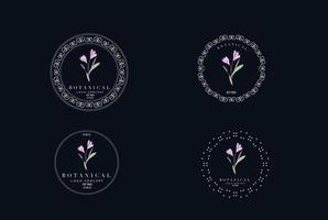 minimal femminile moderno botanico floreale organico astratto logo design vettore