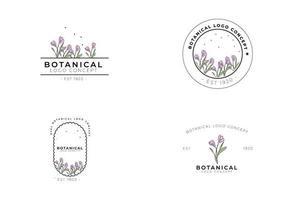 minimal femminile moderno botanico floreale organico naturale astratto stagionale croco classico logo design vettore