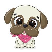 illustrazione animale con simpatico cagnolino. vettore