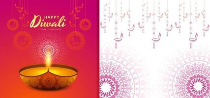 design creativo del modello di sfondo del festival di diwali