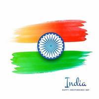 illustrazione vettoriale di grungy bandiera indiana sfondo acquerello