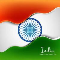 vettore di concetto di festa dell'indipendenza indiana creativa