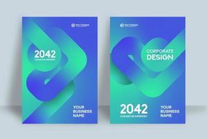 modello di progettazione copertina del libro di affari vettore