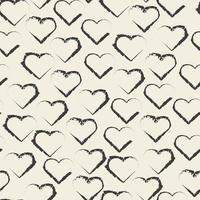 sfondo modello San Valentino senza soluzione di continuità con timbro a forma di cuore monocromatico