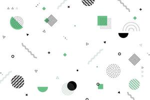 disegno astratto minimal pattern geometrico di sfondo disegno decorativo nero e verde. illustrazione vettoriale