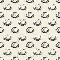 stampa monocromatica senza soluzione di continuità vegetale timbro sfondo pattern