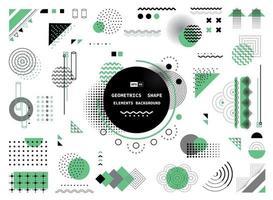la forma geometrica astratta verde grigio e nera di elementi moderni copre il design. illustrazione vettoriale