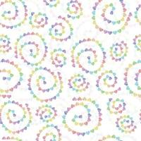 sfondo modello decorazione senza soluzione di continuità con la linea cuore multicolore