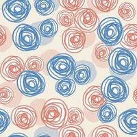 Fondo senza cuciture del modello di giorno di San Valentino con le rose blu e rosa