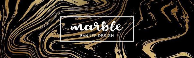 trama di marmo nero e oro. sfondo di marmo astratto. vettore