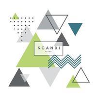 modello scandinavo geometrico astratto. poster scandi moderno ed elegante, copertina, design della carta. vettore