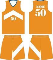 mock up di design personalizzato uniforme da basket