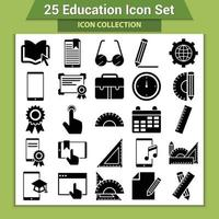 25 set di icone di educazione vettore
