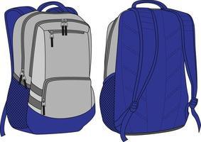 back pack mock up design sublimato vettore
