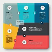 segmenti sotto forma di puzzle. spiegare il processo di lavoro o presentare risultati diversi.