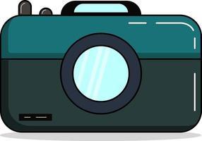 semplice fotocamera piatta, perfetta per l'industria della fotografia vettore