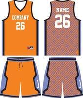 design uniforme da basket per club di basket vettore