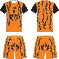 kit uniforme t-shirt da basket design personalizzato vettore