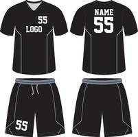 modelli di mock up di design personalizzato uniforme da basket vettore