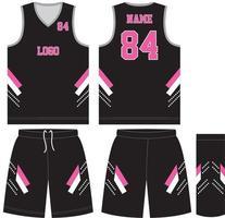 pantaloncini in jersey sportivo con divise da basket personalizzate vettore