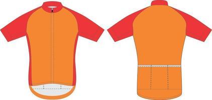 mock up in jersey da ciclismo sublimato vettore