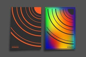 gradiente e linea minimale per sfondo, carta da parati, flyer, poster, copertina di brochure, tipografia o altri prodotti di stampa. illustrazione vettoriale