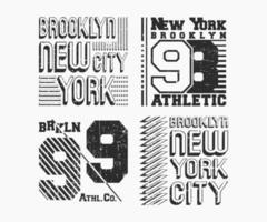 set di francobolli vintage t shirt. design di stampa t-shirt. stampa e badge, applique, magliette con etichette, jeans o abbigliamento casual. illustrazione vettoriale