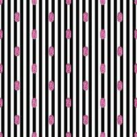 puntino glitter rosa San Valentino senza soluzione di continuità dal modello di forma ovale su sfondo a strisce vettore