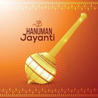 lord hanuman arma con sfondo creativo vettore