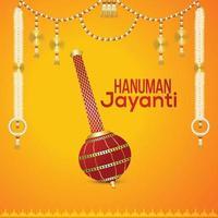 lord hanuman arma e background creativo vettore