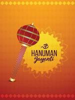 hanuman jayanti flyer o poster design e sfondo vettore