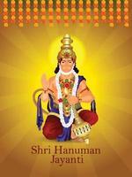 sfondo di celebrazione di shri hanuman jayanti vettore