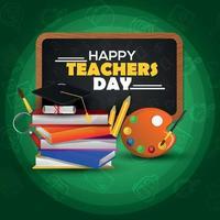 felice giorno dell'insegnante card design vettore