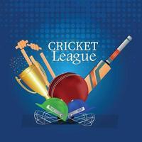 attrezzatura sportiva da cricket vettore