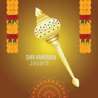 sfondo e biglietto di auguri hanuman jayanti vettore