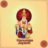 illustartion creativa di hanuman jayanti vettore