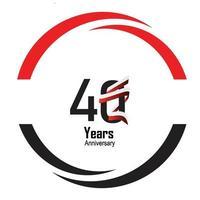 logotipo di anniversario di anni con colore nero bianco a linea singola per la celebrazione del cerchio vettore