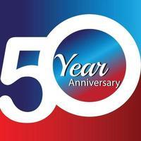 Illustrazione di progettazione del modello di vettore di logo di anniversario di 50 anni